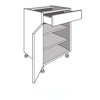 meuble de cuisine bas 1 porte tablettes et tiroir twist cuisine