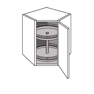 meuble de cuisine haut d 39 angle avec 2 plateaux origine. Black Bedroom Furniture Sets. Home Design Ideas