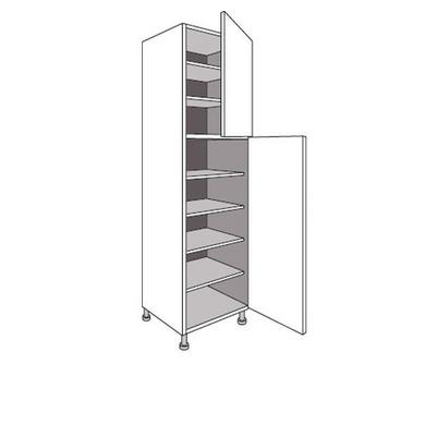 colonne de cuisine de rangement avec 6 tablettes twist. Black Bedroom Furniture Sets. Home Design Ideas