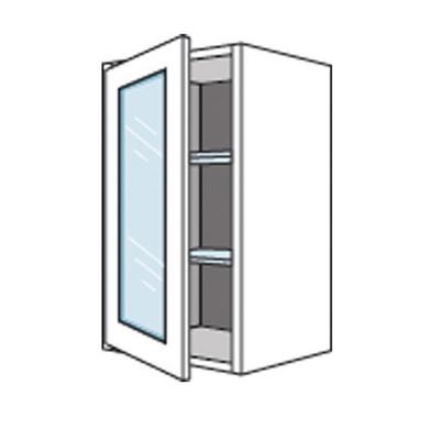 Meuble de cuisine haut 2 portes pliantes 1 pleine/1 vitrée ORIGINE ...