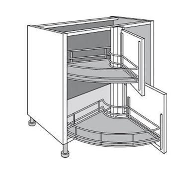 Meuble de cuisine d 39 angle bas twister lumio cuisine for Dimension meuble d angle cuisine