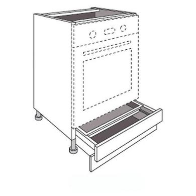 meuble de cuisine pour four avec 1 tiroir socle lumio. Black Bedroom Furniture Sets. Home Design Ideas