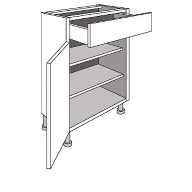 meuble de cuisine bas cm 1 porte 1 tiroir origine cuisine. Black Bedroom Furniture Sets. Home Design Ideas