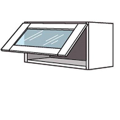 Meuble de cuisine haut avec abattant porte virtr e lumio - Porte pour caisson de cuisine ...