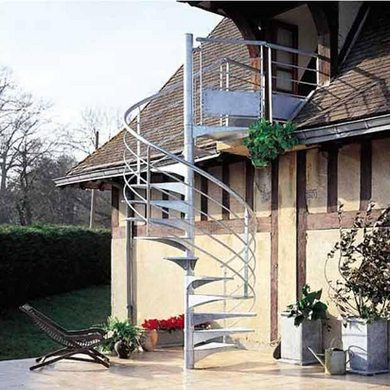 Escalier Exterieur Nova Spiral En Acier Galvanise Escaliers