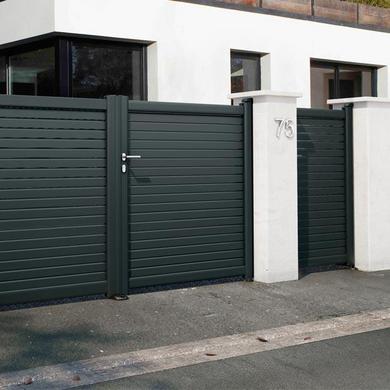 portillon aluminium sicile ext rieur. Black Bedroom Furniture Sets. Home Design Ideas
