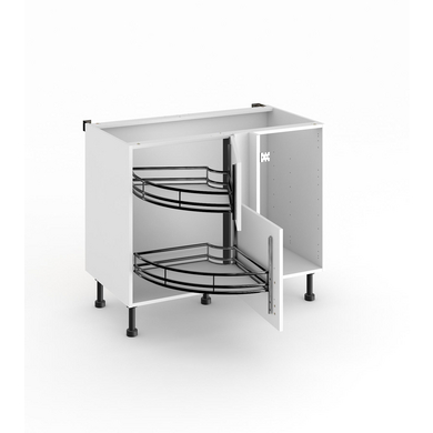 meuble de cuisine d'angle bas twister - cuisine - Meuble Angle Bas Cuisine