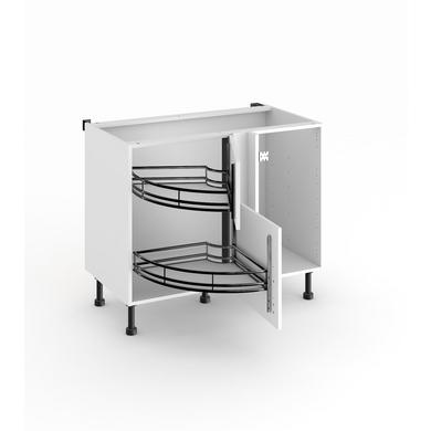 meuble de cuisine d'angle bas twister - cuisine - Meuble Cuisine Angle Bas