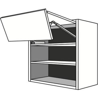Meuble de cuisine haut 2 portes pliantes pleines urban for Meuble porte pliante