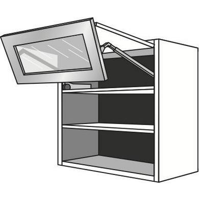 meuble de cuisine haut 2 portes pliantes 1 pleine 1 vitr e. Black Bedroom Furniture Sets. Home Design Ideas