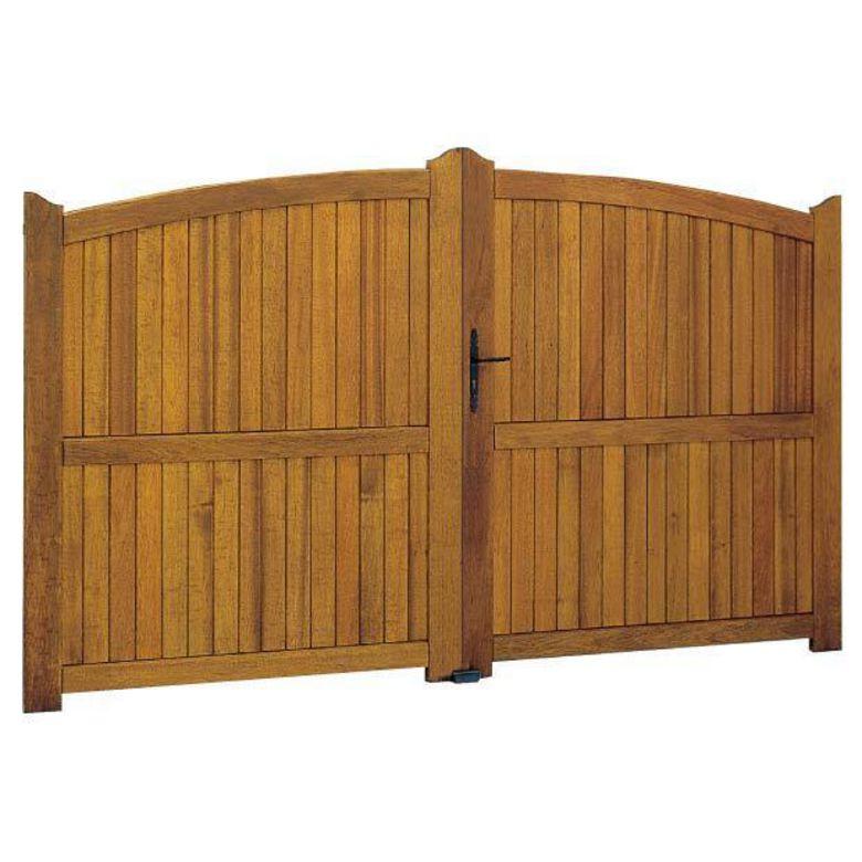 Portail battant bois fontanges quincaillerie fixe ext rieur for Portail en kit bois