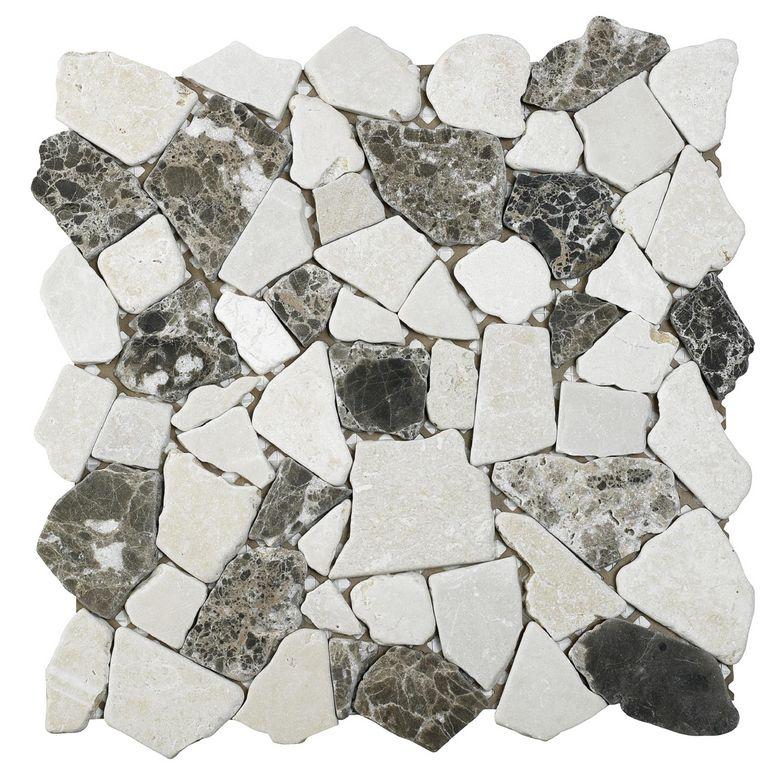 Carrelage plaque de galets VERMONT 30 x 30 cm - Sols & murs