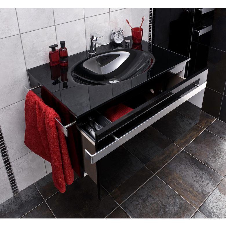 Plan de toilette loft salle de bains with parquet flottant - Pose salle de bain lapeyre ...