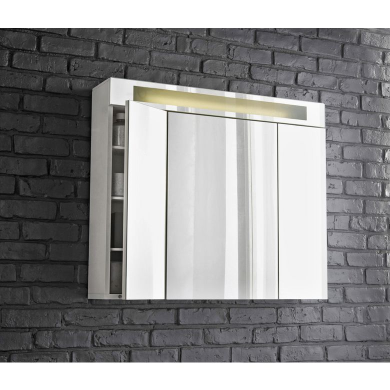 armoire de toilette fluo tryptique salle de bains. Black Bedroom Furniture Sets. Home Design Ideas
