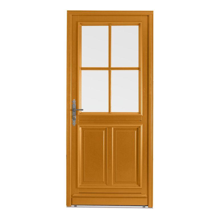 Porte d 39 entr e chaumont bois exotique menuis portes for Porte d entree bois prix