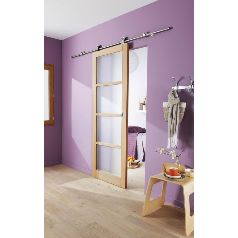 Syst me coulissant manhattan en applique pour porte en bois portes - Porte en applique lapeyre ...