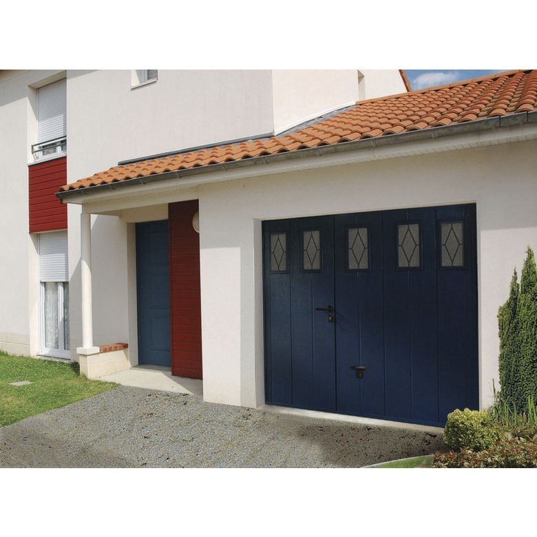 Porte de garage noviso basculante isolante manuelle avec - Porte garage isolante ...