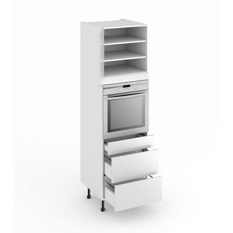 colonne de cuisine pour four avec 3 tiroirs cuisine. Black Bedroom Furniture Sets. Home Design Ideas