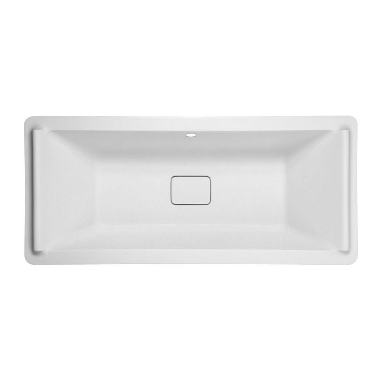 Baignoire droite acryl sofa salle de bains for Dimension baignoire droite