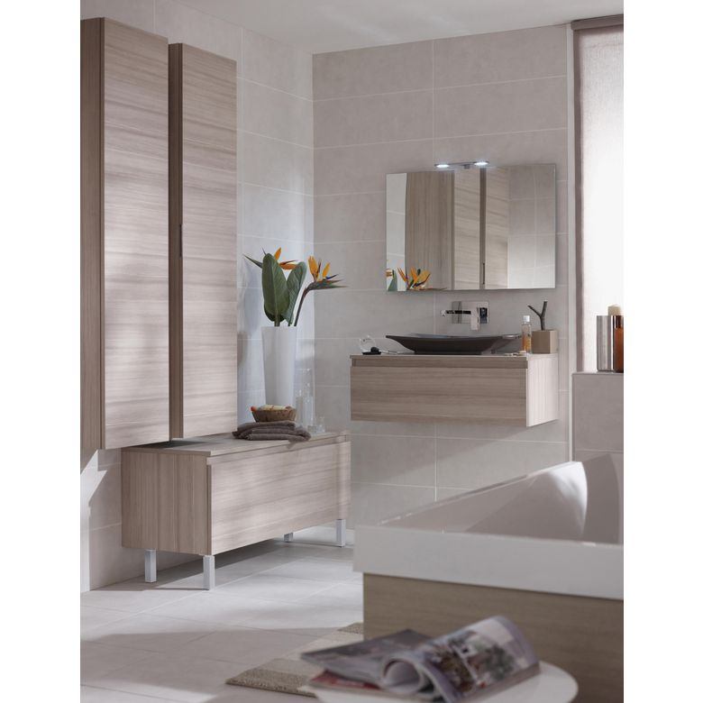 Meuble pour vasque semi-encastrée centré L. 90 cm EVASION - Salle de ...