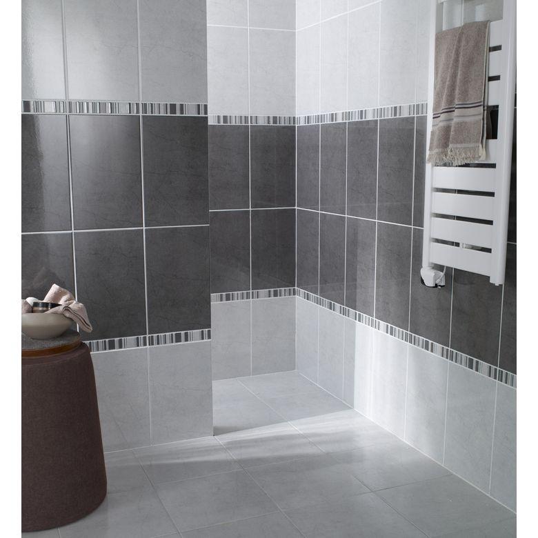 Carrelage adonis 33 x 33 cm sols murs - Exemple salle de bain carrelage ...