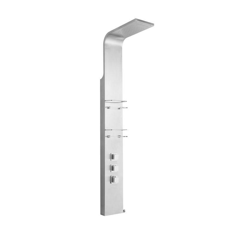 colonne de douche non hydromassante titanium salle de bains. Black Bedroom Furniture Sets. Home Design Ideas