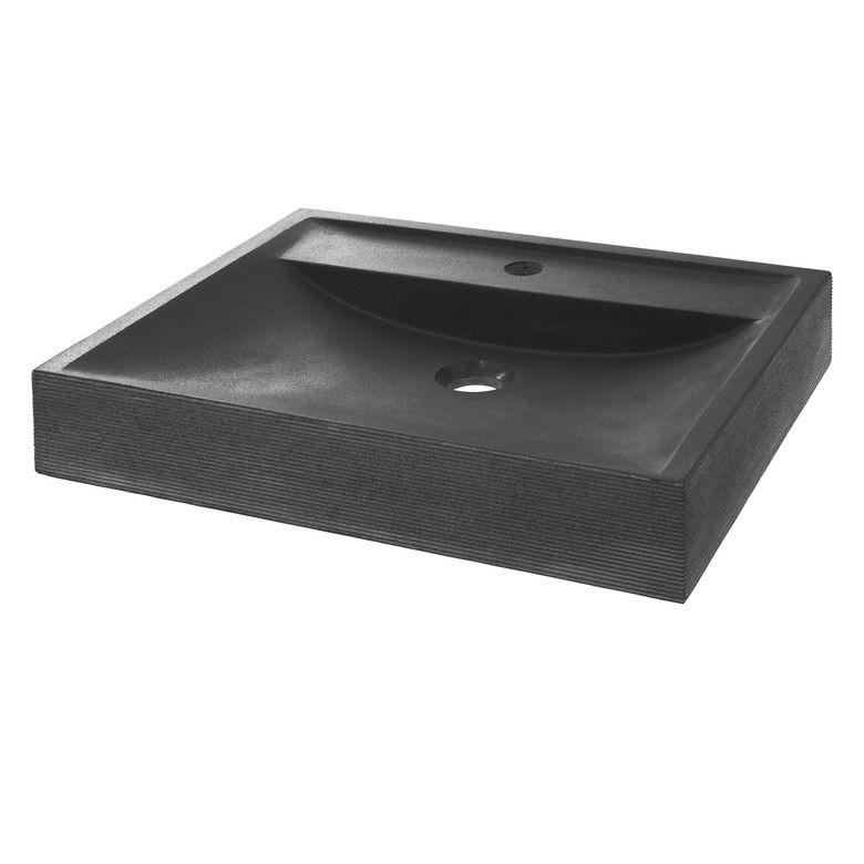Vasque poser dolmen salle de bains for Plan salle de bain rectangulaire