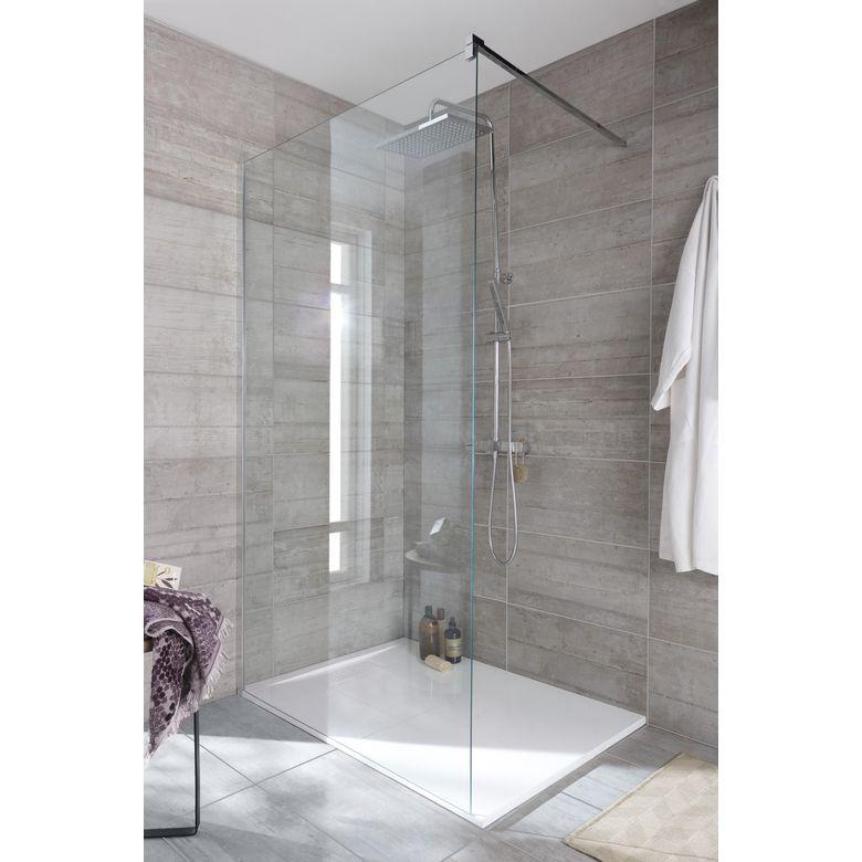 Paroi de douche grand espace line prestige salle de bains for Peut on repeindre une baignoire