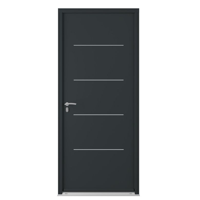 porte d 39 entr e mocka acier portes. Black Bedroom Furniture Sets. Home Design Ideas