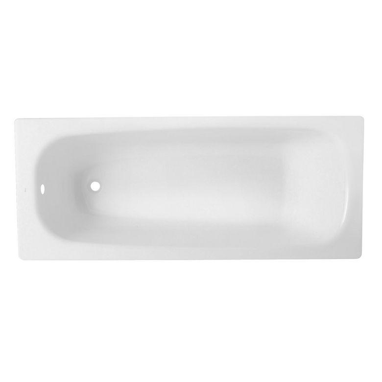 Baignoire droite acier linea salle de bains for Baignoire profondeur 60 cm