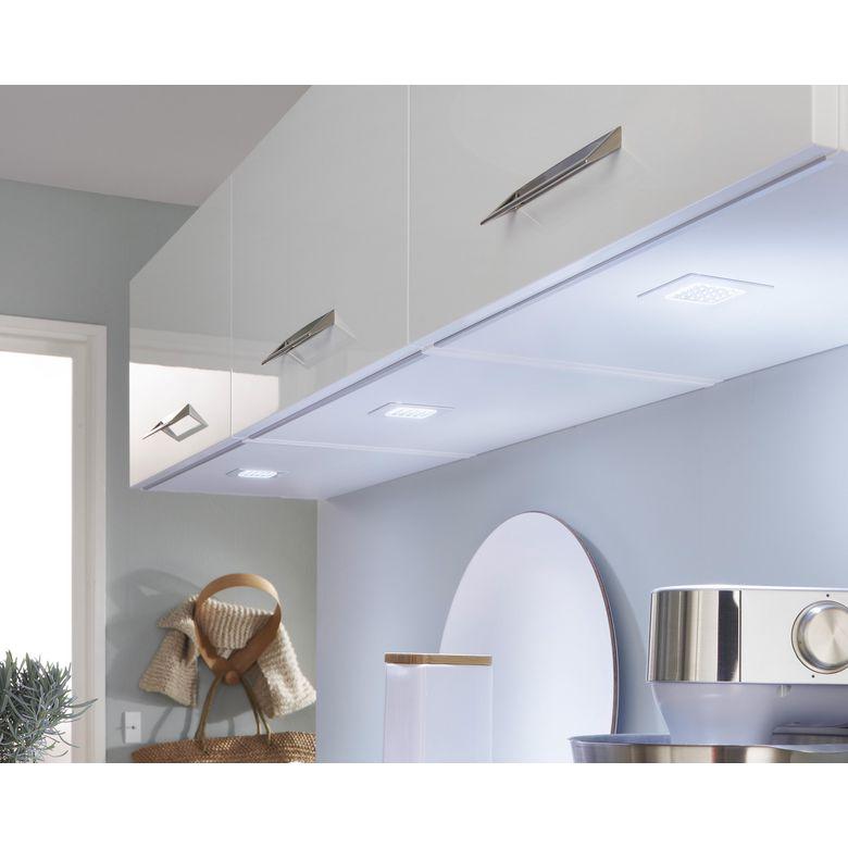 Spot led carr encastrer seul cuisine - Eclairage meubles cuisine style fonctionnalite ...