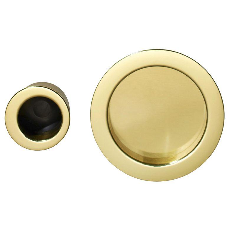 ronde laiton pour porte coulissante en bois sans serrure - portes - Poignee De Porte Coulissante Interieur