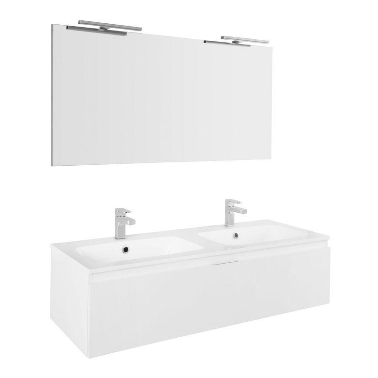 Miroir de salle de bain l 120 cm evasion salle de bains for Miroir lumineux salle de bain lapeyre