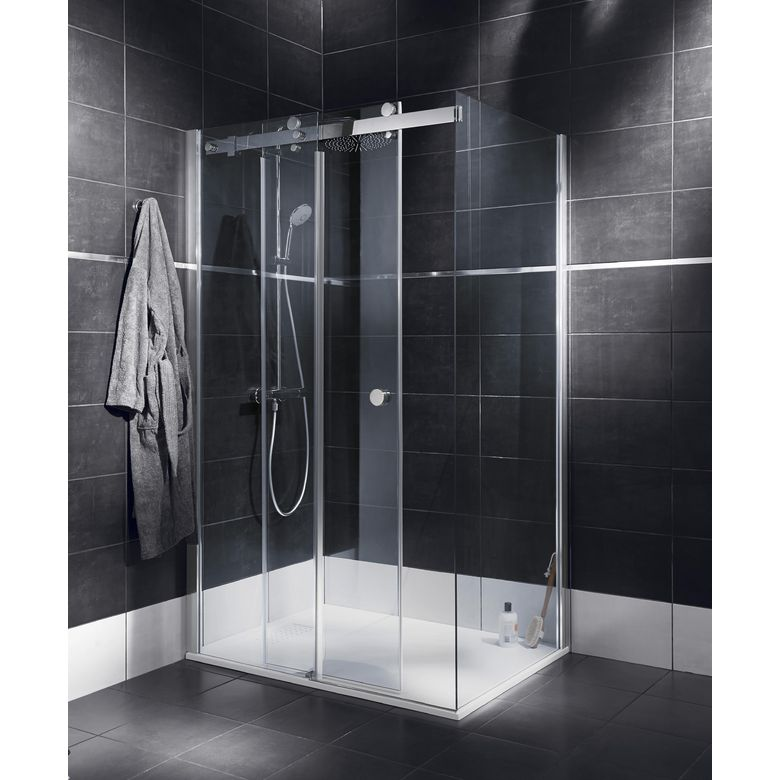 porte de douche coulissante palace avec paroi de retour 77. Black Bedroom Furniture Sets. Home Design Ideas
