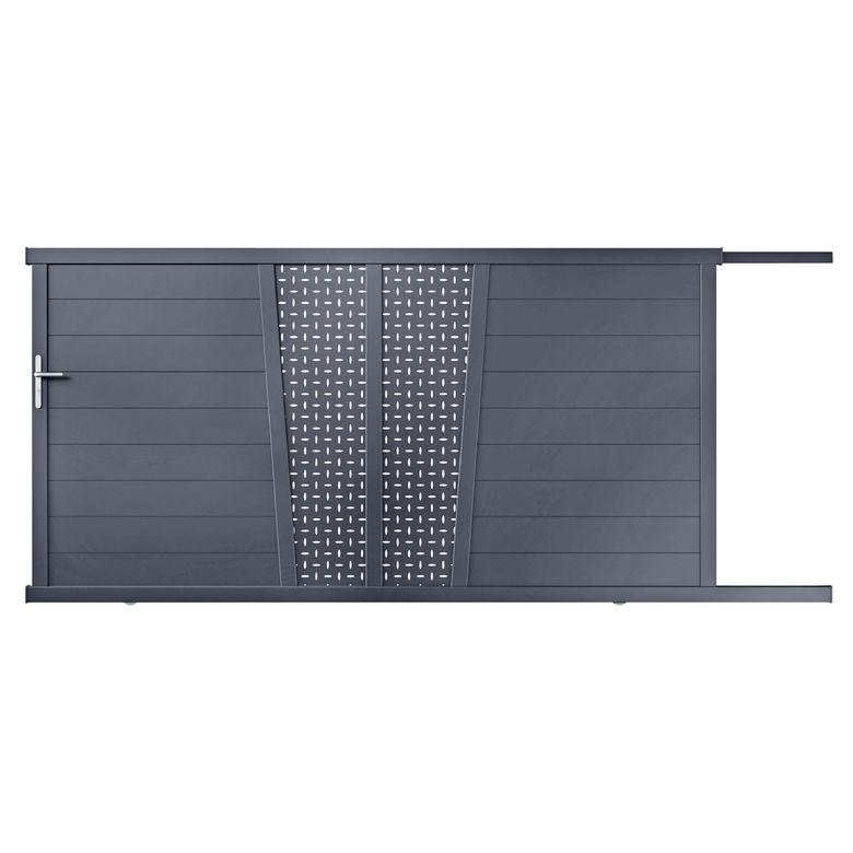 Portail Coulissant Aluminium Pise Ajour D Cor Oblong Ext Rieur