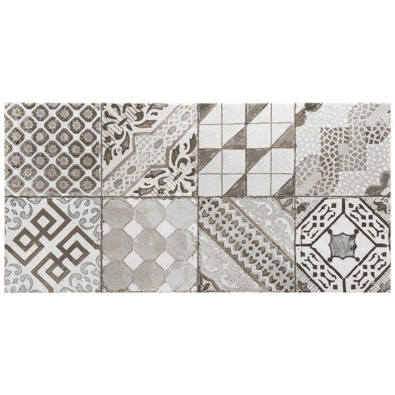 carrelage castel patchwork gris 30 x 60 cm sols murs. Black Bedroom Furniture Sets. Home Design Ideas