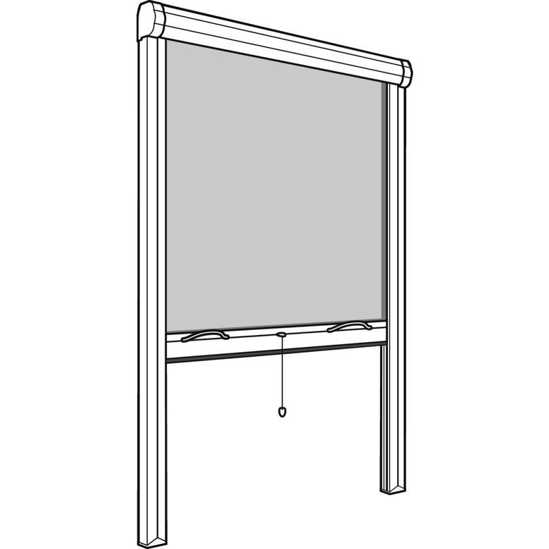 moustiquaire enroulement vertical recoupable fen tres. Black Bedroom Furniture Sets. Home Design Ideas