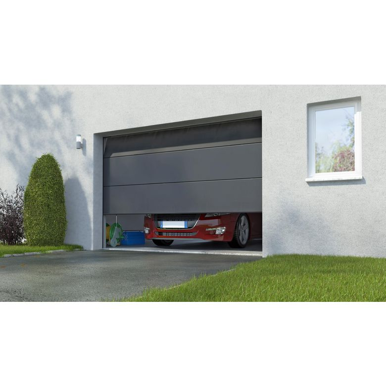 Porte de garage columbia sectionnelle en kit motoris e marantec ext rieur for Porte de garage coulissante motorisee lapeyre