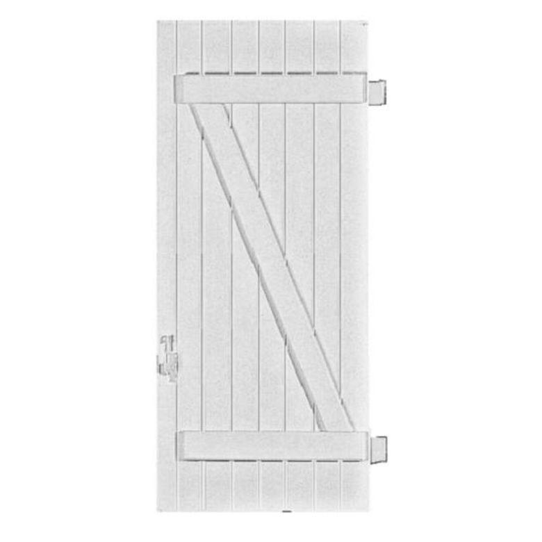 volet pvc simple barres et charpe pentures pos es 1 vantail battant version gauche fen tres. Black Bedroom Furniture Sets. Home Design Ideas