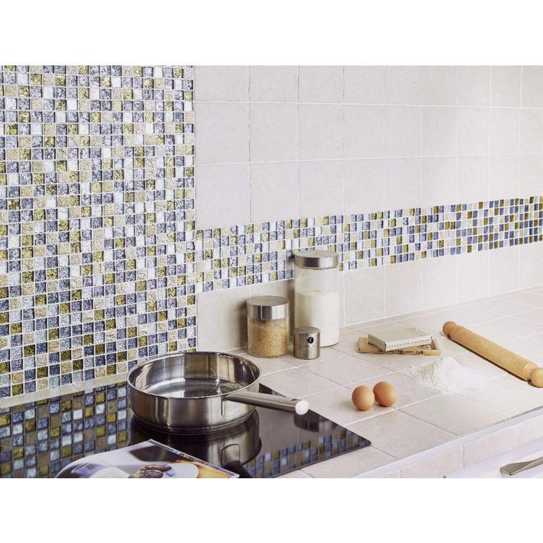 Carrelage mosa que kerouac 2 5 x 2 5 cm trame 30 x 30 cm sols murs Lapeyre carrelage mosaique