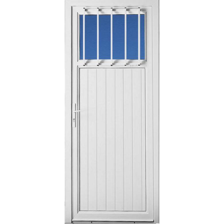 Porte de service gl nan pvc avec grille portes - Lapeyre porte sur mesure ...