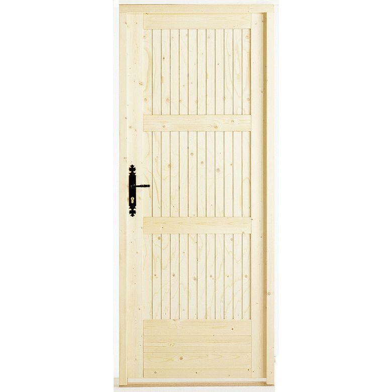 Porte de service romilly sapin portes - Lapeyre porte de service ...