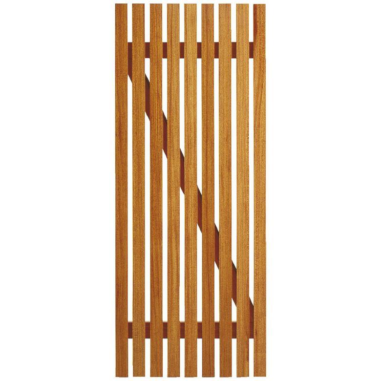 Porte de service sans ferrage bois exotique clairevoie portes for Lapeyre porte exterieure bois