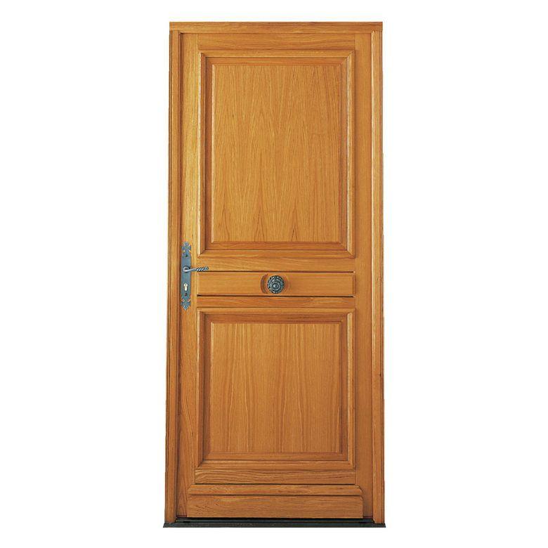 Porte d 39 entr e saumur ch ne menuis portes for Capitonner une porte d entree