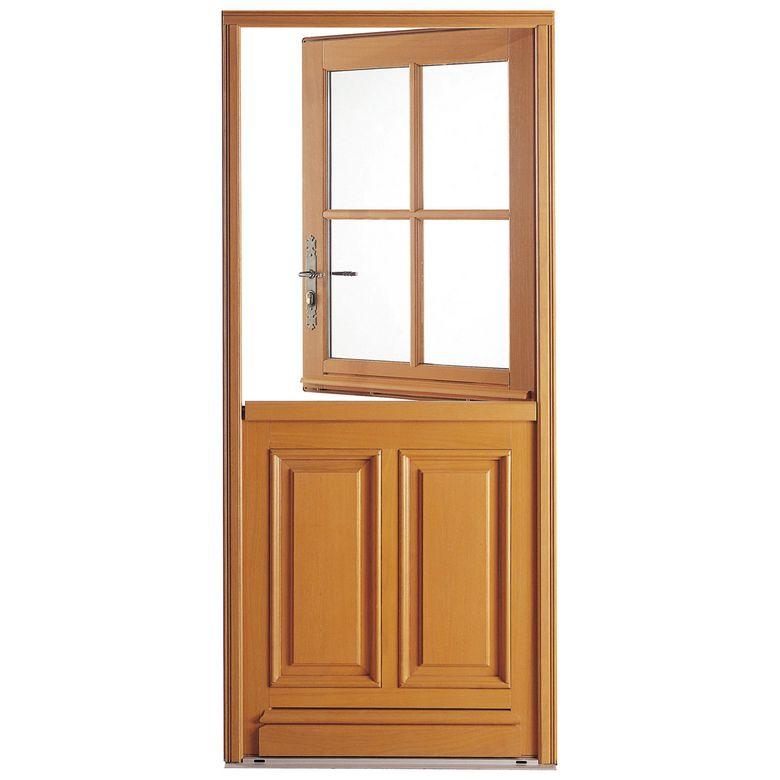 Porte d 39 entr e fermi re iso bois exotique menuis portes - Porte exterieur lapeyre ...