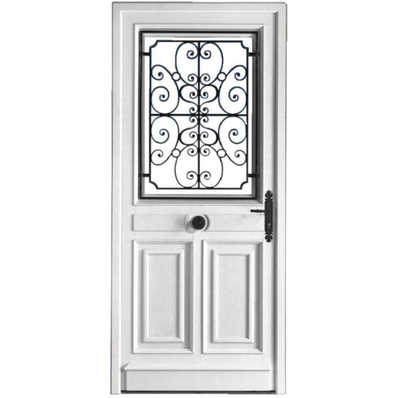 Porte d 39 entr e mansart pvc portes - Porte d entree bois lapeyre ...