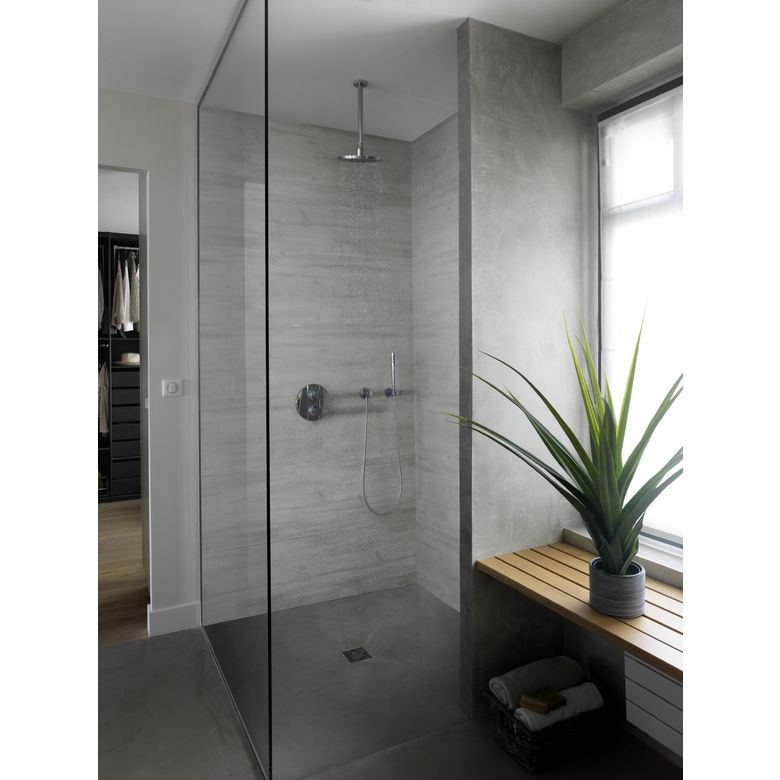 lambris pvc element wood aboutable bois rabot gris - Lambris Pvc Mural Salle De Bain