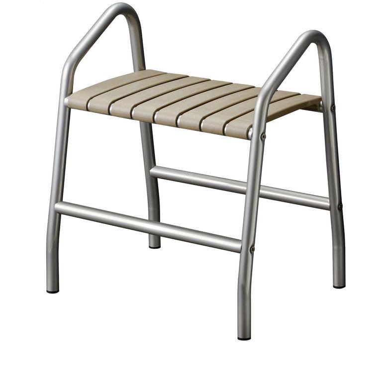 banc de douche gris taupe salle de bains. Black Bedroom Furniture Sets. Home Design Ideas