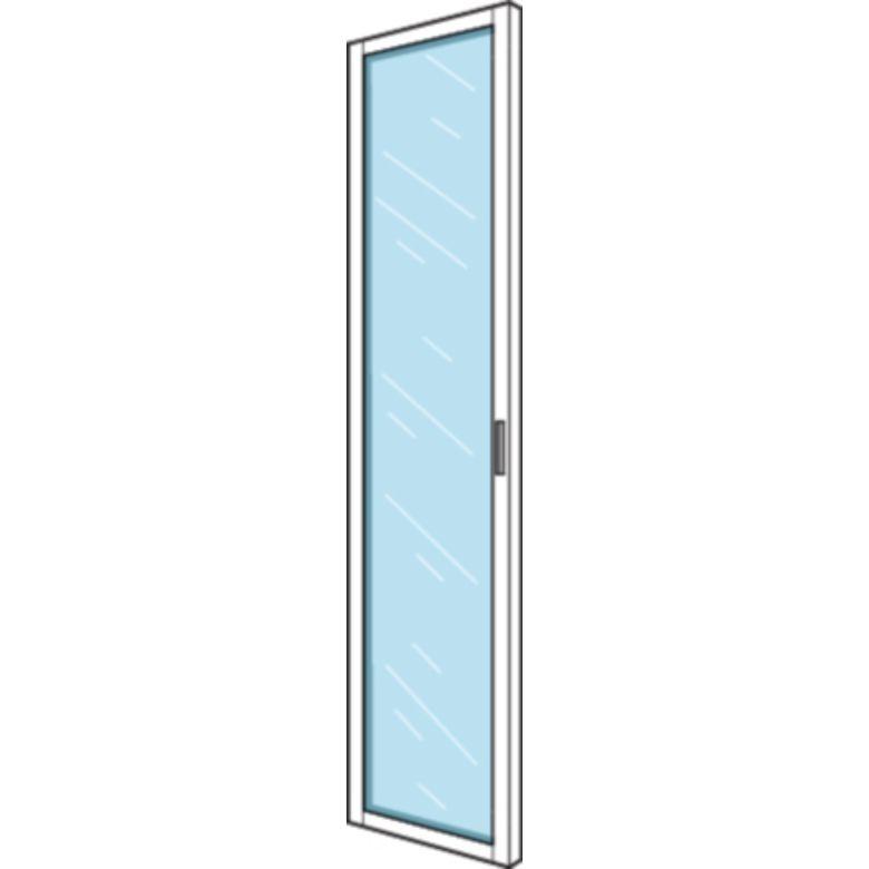 Biblioth que dressing espace porte vitr e h 226 x p 35 50 cm rangements for Porte placard vitree