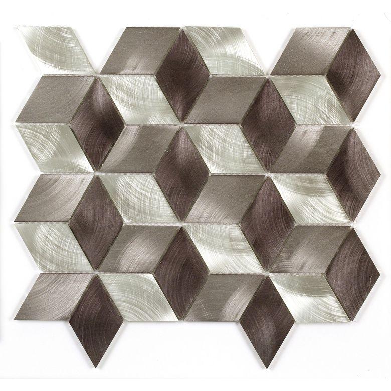 carrelage mosaique rhodium cubes 30 x 30 cm sols murs. Black Bedroom Furniture Sets. Home Design Ideas